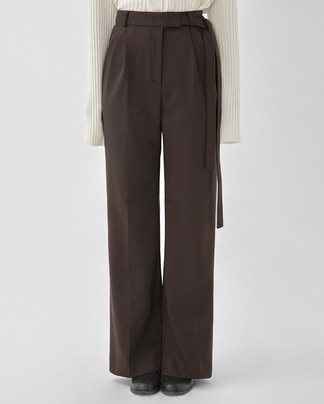 thick belt long slacks (s, m)