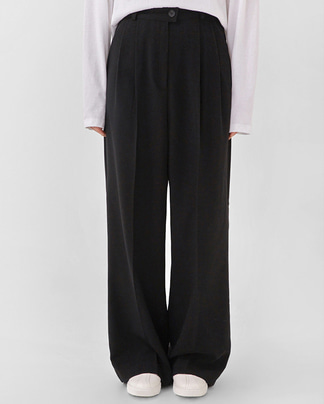 pin basic wide slacks (s, m)