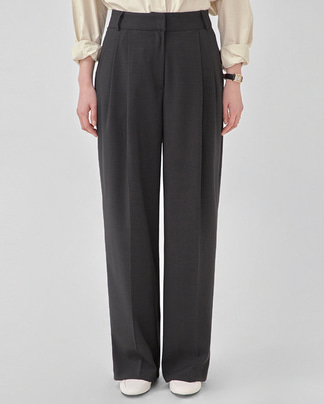 garment two pintuck slacks (s, m)