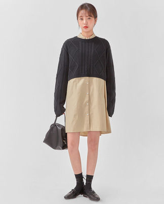 form crop cable knit